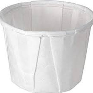 1.25oz Paper Souffle White Cups