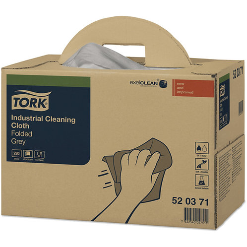 Tork Industrial  Cleaning Cloth Grey