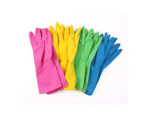 Household rubber gloves - pink - large