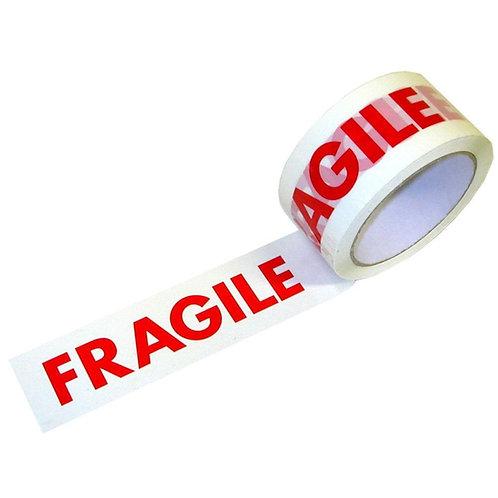 50mmx66mtr Polyprop Tape Fragile Print