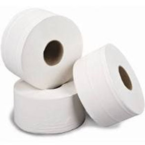 2ply White Recycled 200m Mini Jumbo Toilet Roll 76mm