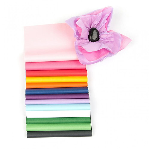 COLOURED - HIGH QUALITY PURE MG TISSUE PAPER SHEETS 20 X 30 ALL COLOURS