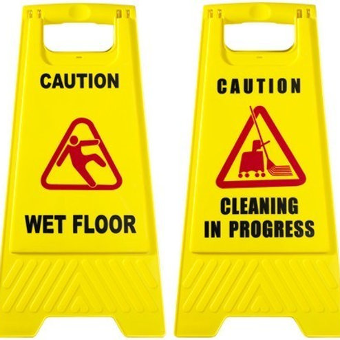 Caution Wet Floor/Cleaning In Progress Signs