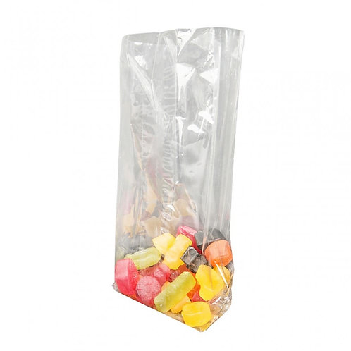 FILM BAGS (CELLOPHANE) SIDE GUSSETED - HEAT SEALED