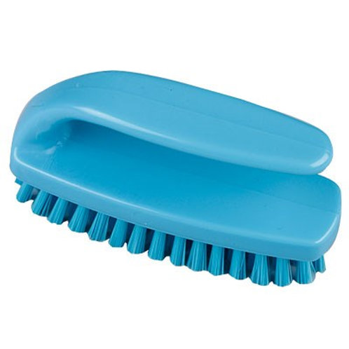 Medium 102mm Grippy Nail Brush Blue