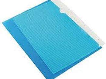 Q-Connect Cut Flush Folder Blue A4 PK47