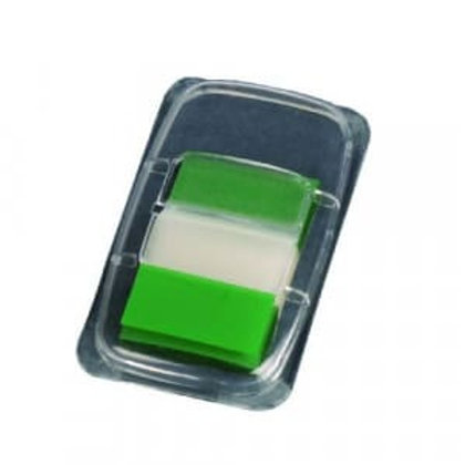 """Q - Connect Page Markers 1"""" (25mm) Tabs Green"""