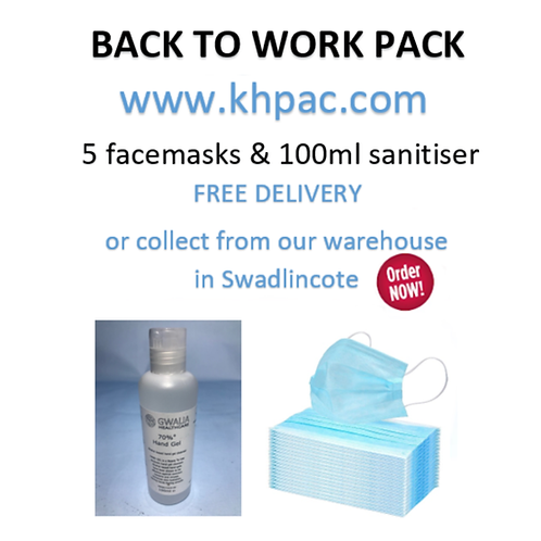 BACK TO WORK MASK & SANITISER PACK