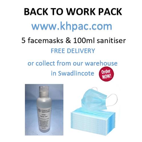 BACK TO WORK MASK & SANITISER PACK