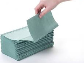 1 Ply green interfold hand towel HTGI500