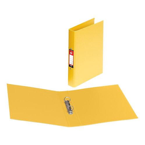 5 Star (A4) 2 x O-Ring 25mm Polypropylene Ring Binder (Yellow)
