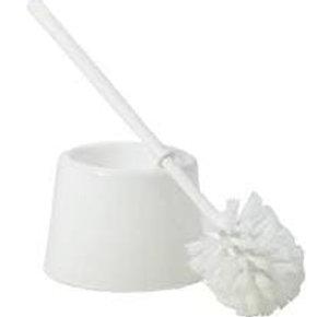 Open Plastic Toilet Brush & Holder