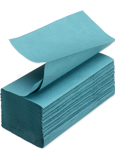 1 Ply Blue Interfold hand towel HTBI500