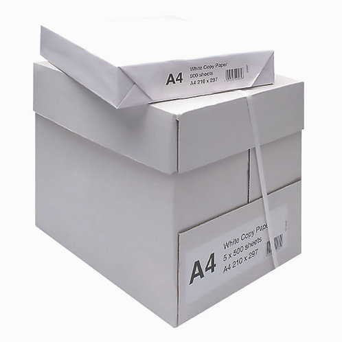 A4 Copy Paper 75/80gsm Box of 5 Reams - Monthly Subscription