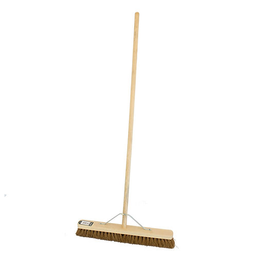 """24"""" Soft Coco Broom With Handle And Stay"""