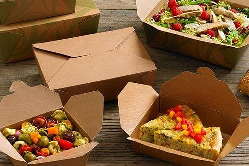Brown Kraft Leak Proof Boxes Various Sizes