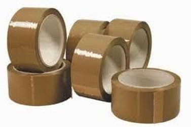 48mmx66mtr Acrylic P/P Tape Brown