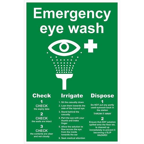 Eyewash Sign Rigid