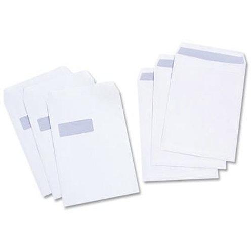C4 Pocket Window Envelopes WHITE Pk 250