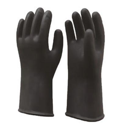Black heavy duty rubber glove size 9 Large