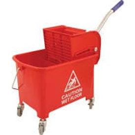 Kentucky Mop Bucket & Wringer Red 24Ltr