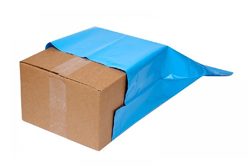 BLUE METALLIC - POLY MAILING BAGS - PERM SELF ADHESIVE - TFP