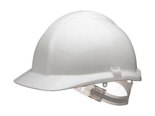 White contractors safety helmet