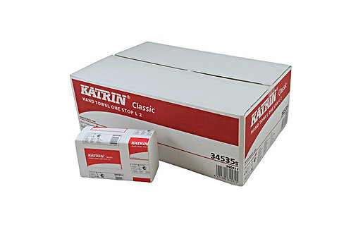 2ply Katrin Classic White Hand Towel One Stop L2