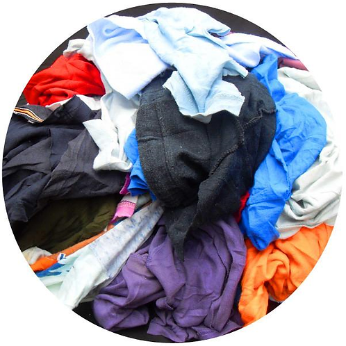 Mixed Coloured T-Shirts Rags 10kg