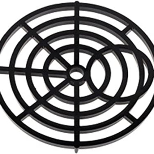 """6"""" BLACK PLASTIC ROUND GULLY GRID COVER"""