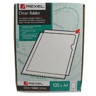 Rexel Cut Flush Copyking Folder Clear Polypropylene A4 CKFA4