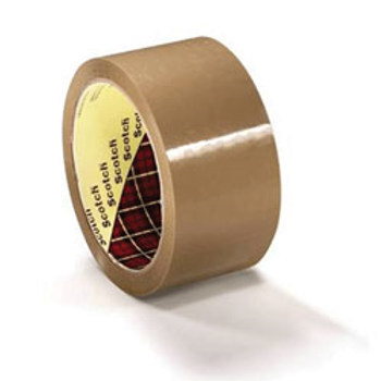 3M 371 48mm x 66mtr Polyprop Brown Tape