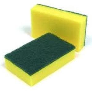 """5.5"""" Sponge Back Scourer Green"""