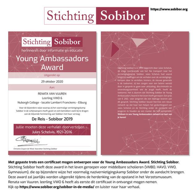 Certificaat Stichting Sobibor