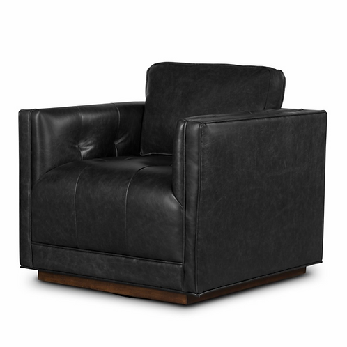 Kiera Swivel Chair in Sonoma Black