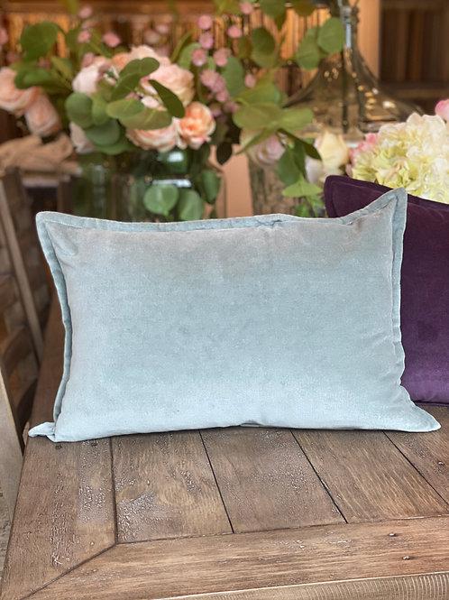 Seaglass Velvet Lumbar Pillow