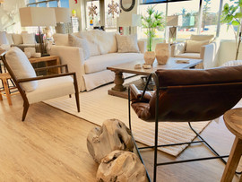 Bright Showroom Teak Root Slipcover Sofa