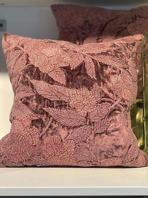 """20"""" Plum Wine Velvet Pillow w Down Insert and Hidden Zipper Closure"""