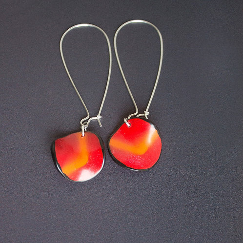 Red Quirky Earrings