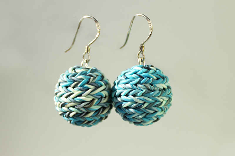 Blue Texture Earrings