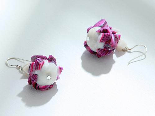 Fuchsia Cluster Earrings
