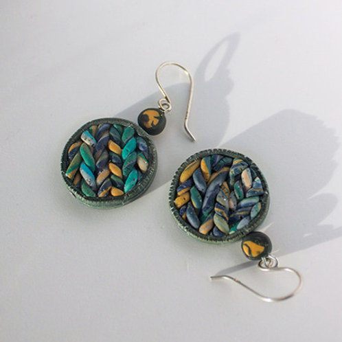 Vibrant Texture Dangle Earrings