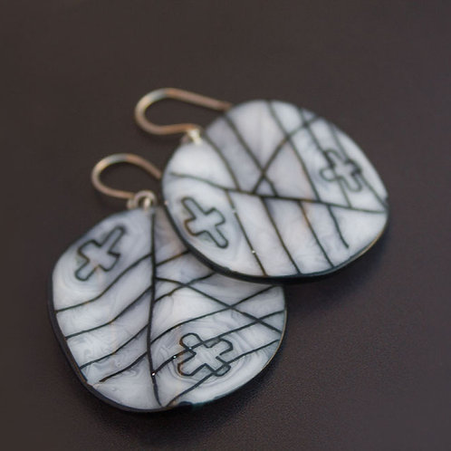 Curved Design Earrings