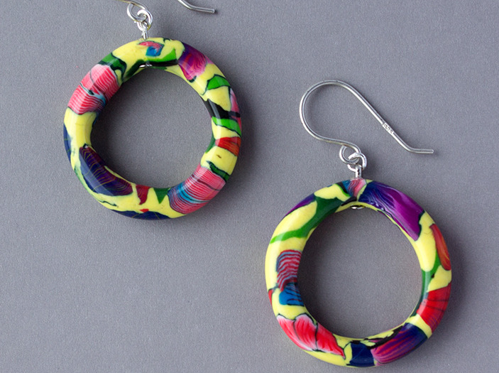Vibrant Medium Hoop Earrings