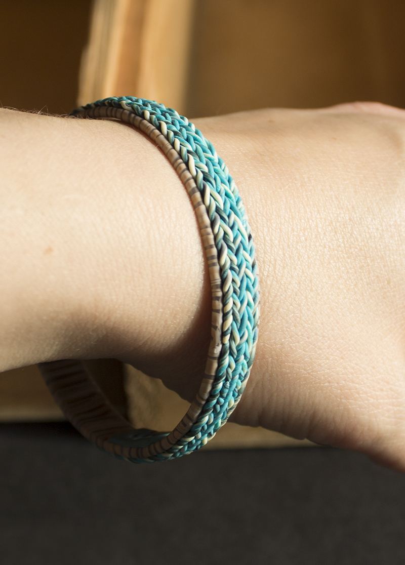 Narrow Knit Inspired Bracelet