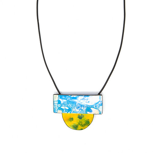 Sky Earth Element Abstract Design Necklace