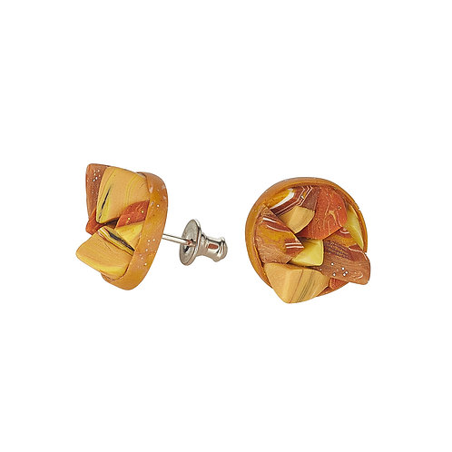 Golden Rocks Collection Stud Earrings