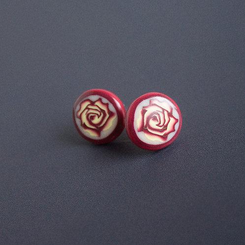 Roses Delicate Stud Earrings