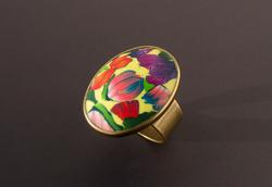 Tulip Garden. Adjustable Size Ring