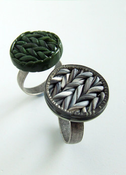 Adjustable Size Knit Inspired Rings
